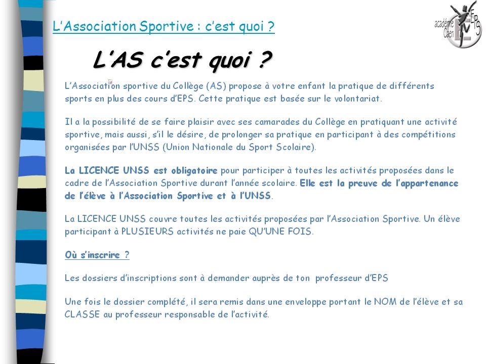 L'Association Sportive : c'est quoi