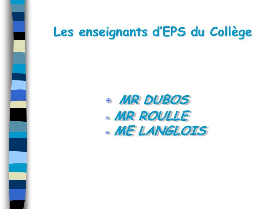 Les enseignants d'EPS du Collège