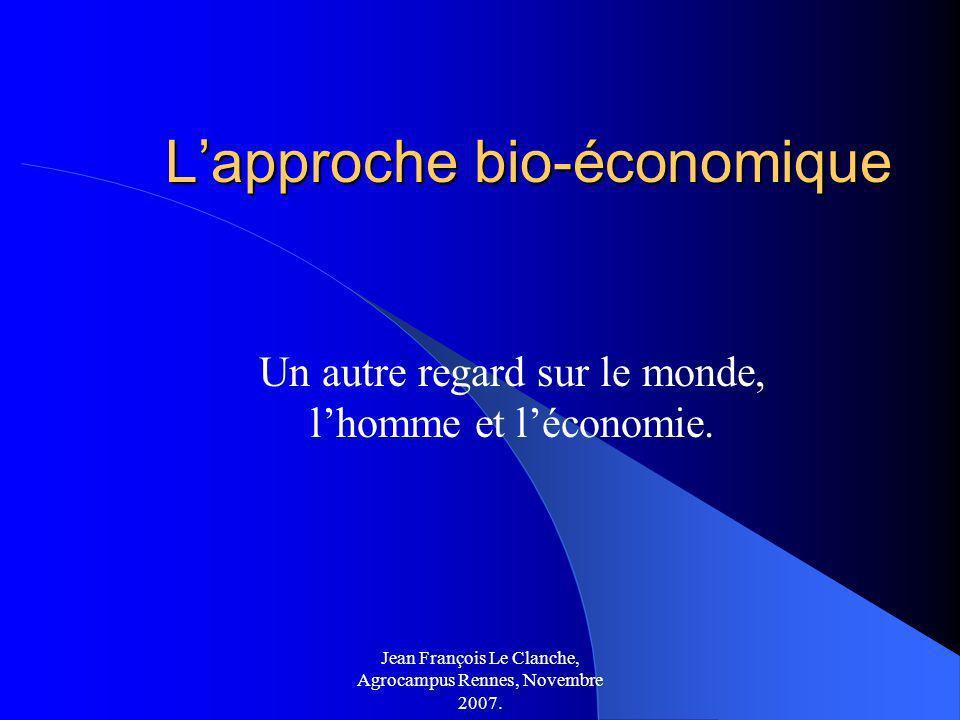L'approche bio-économique
