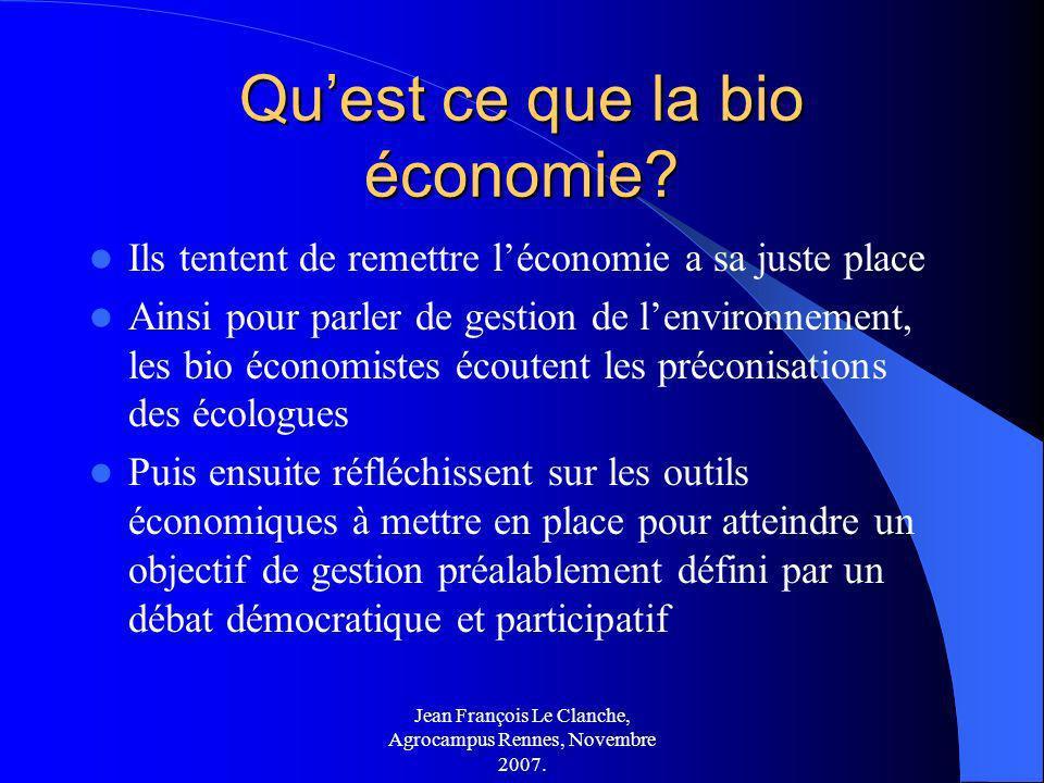 Qu'est ce que la bio économie