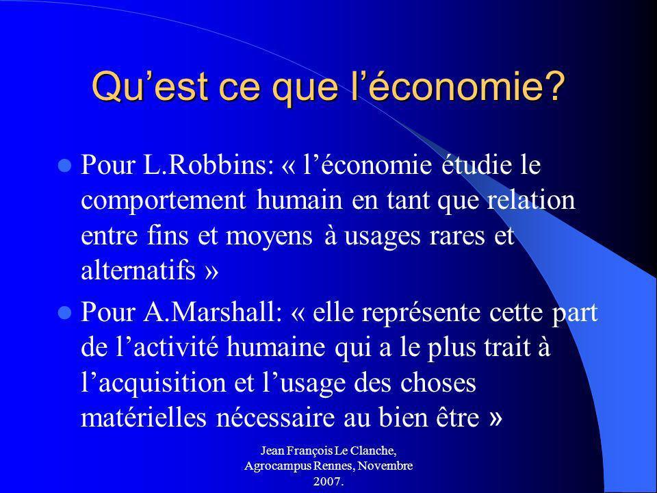 Qu'est ce que l'économie