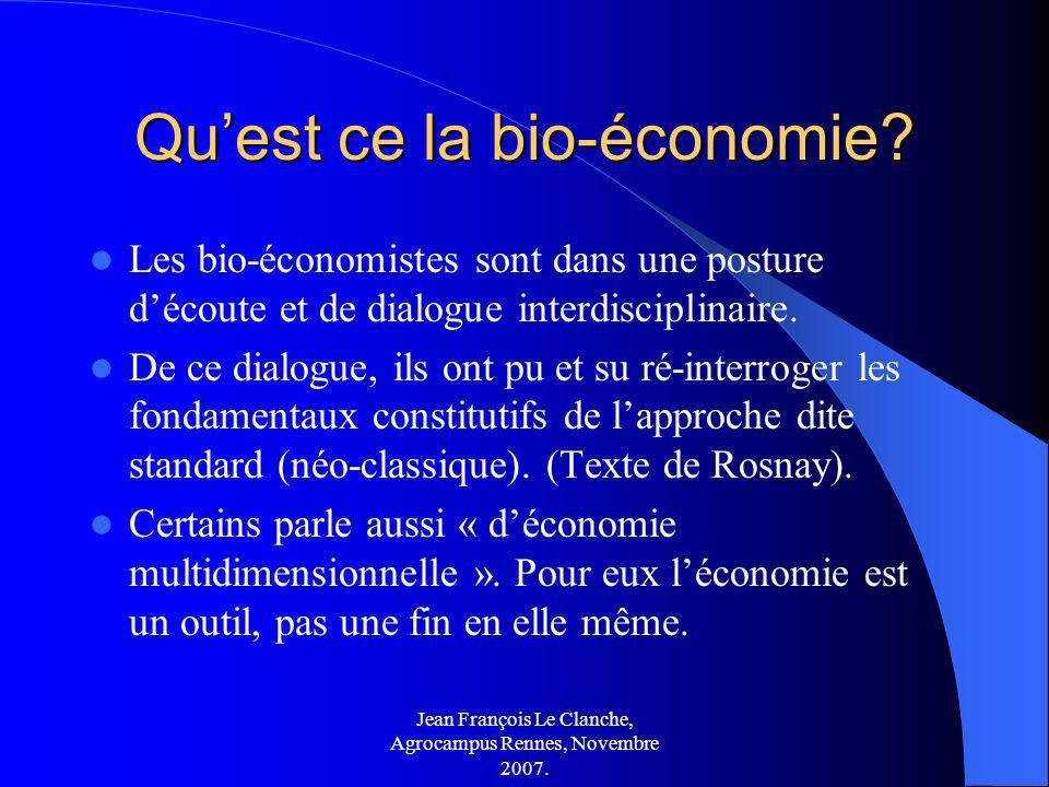 Qu'est ce la bio-économie