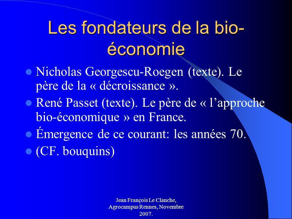 Les fondateurs de la bio-économie