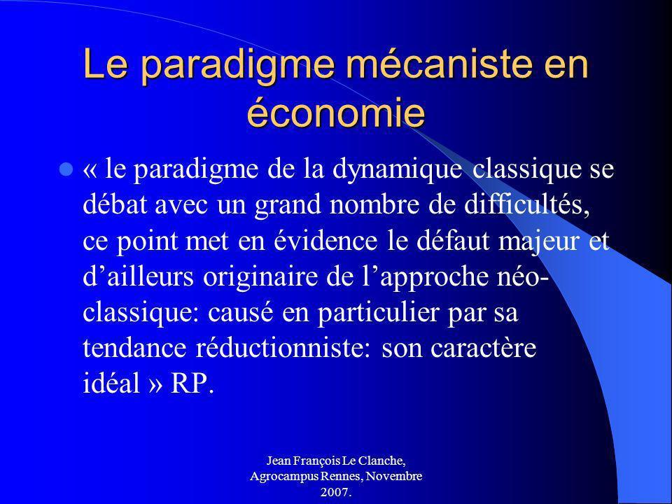 Le paradigme mécaniste en économie