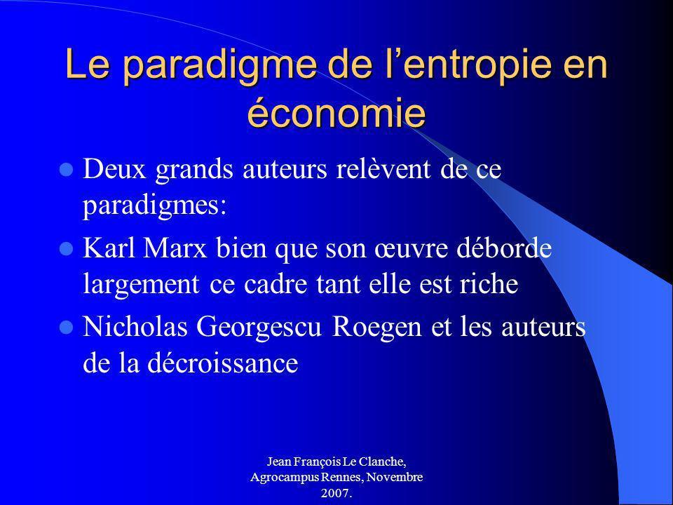 Le paradigme de l'entropie en économie