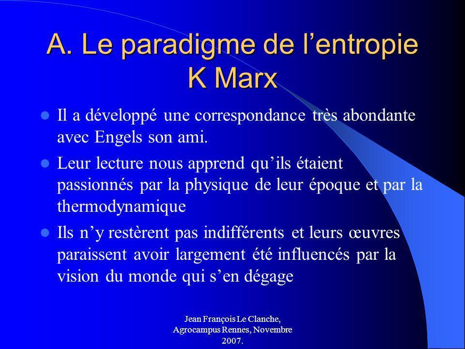 A. Le paradigme de l'entropie K Marx