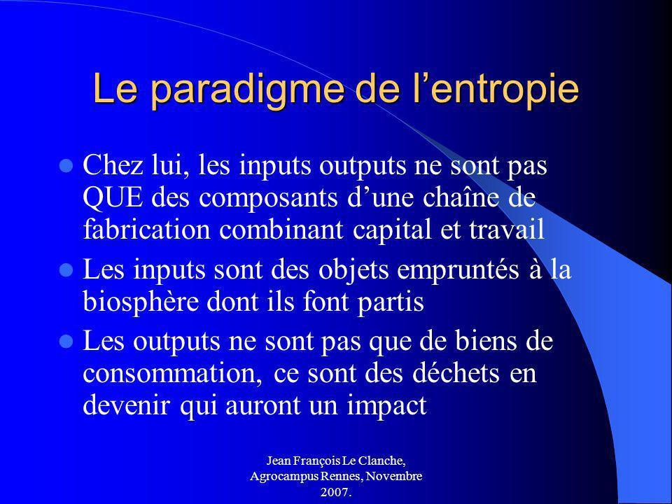 Le paradigme de l'entropie