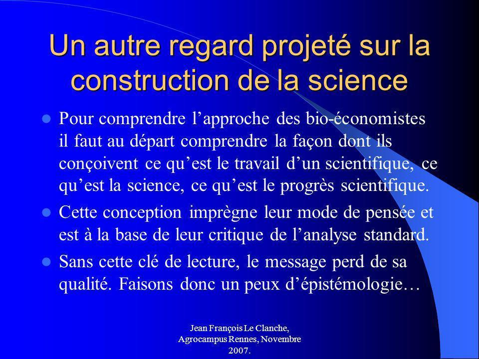 Un autre regard projeté sur la construction de la science