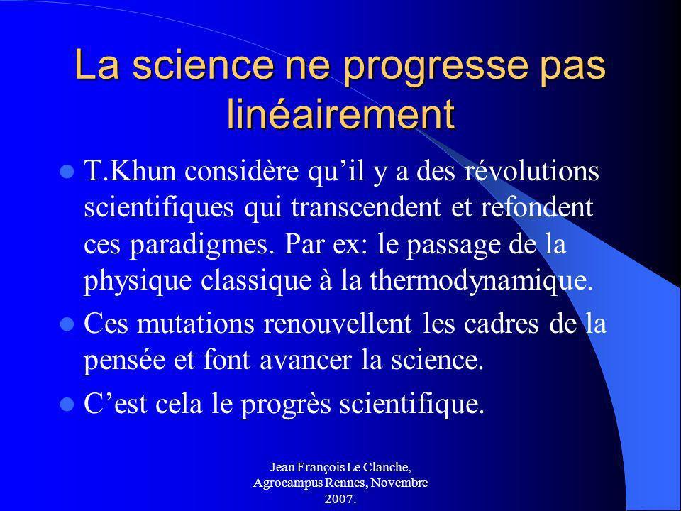 La science ne progresse pas linéairement