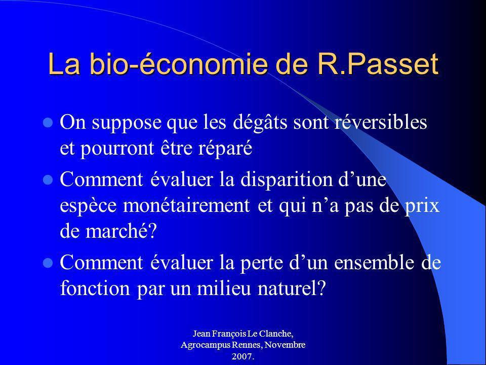 La bio-économie de R.Passet