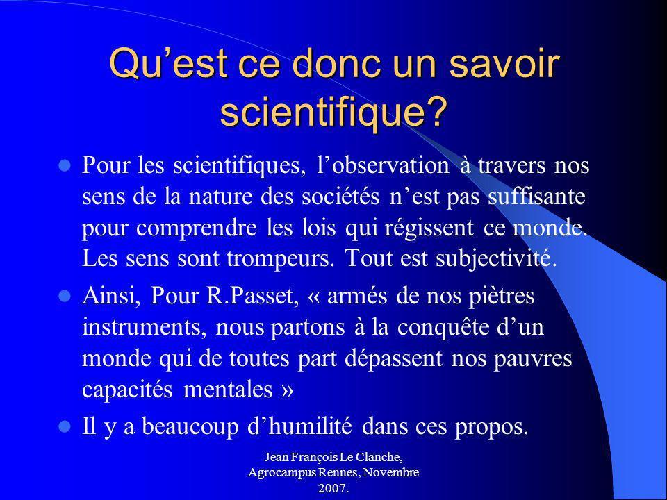 Qu'est ce donc un savoir scientifique