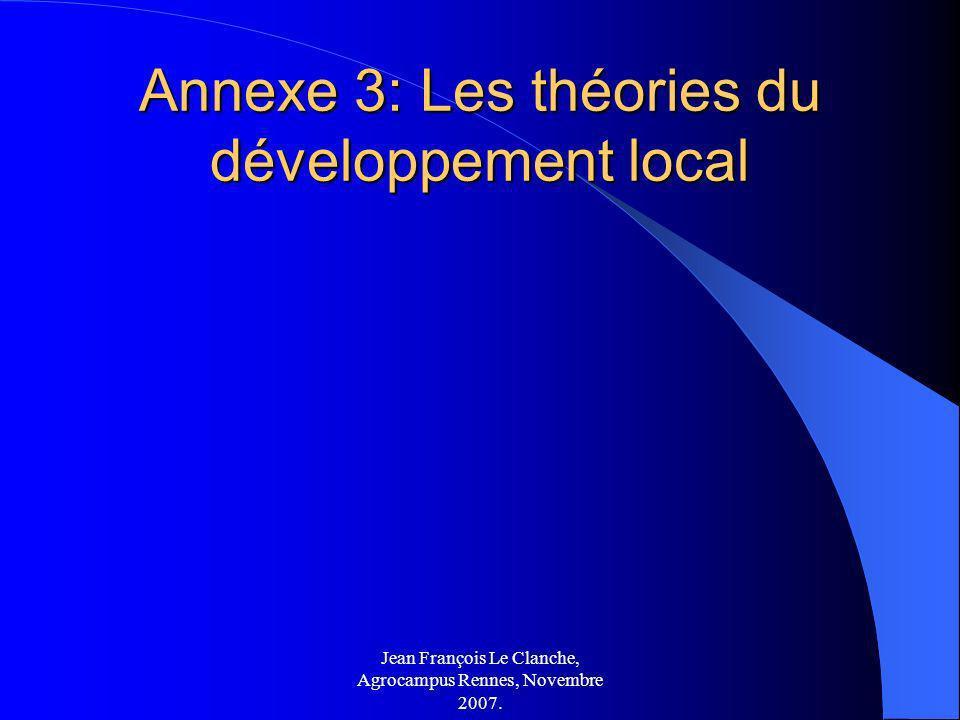 Annexe 3: Les théories du développement local