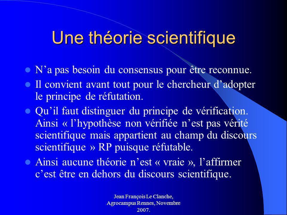 Une théorie scientifique