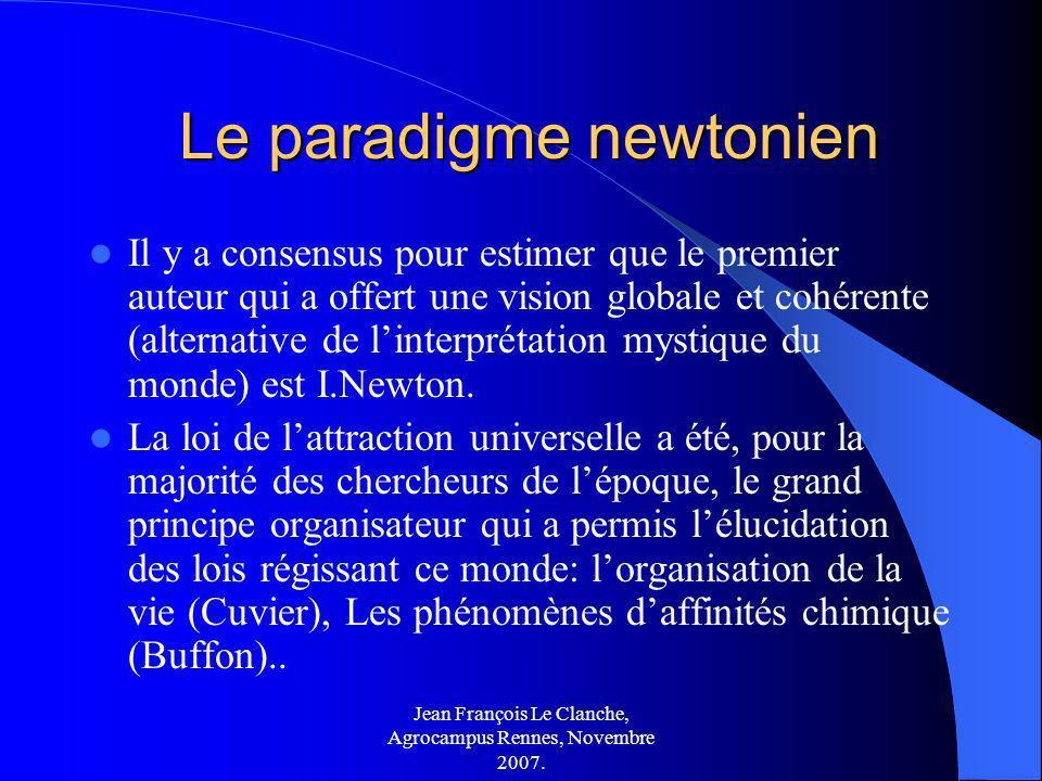 Le paradigme newtonien
