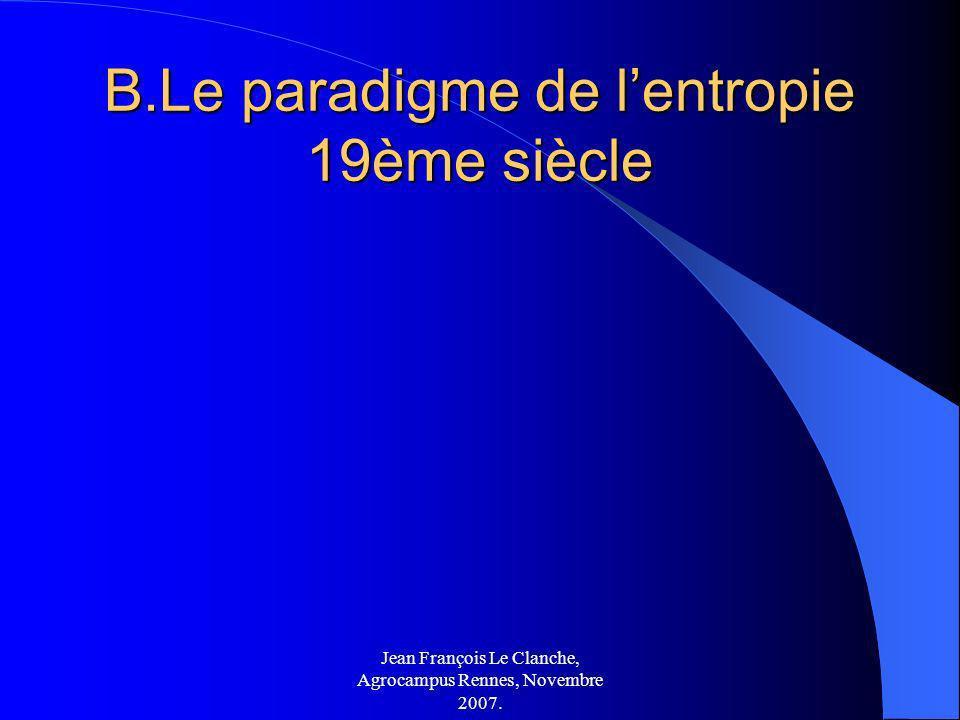 B.Le paradigme de l'entropie 19ème siècle