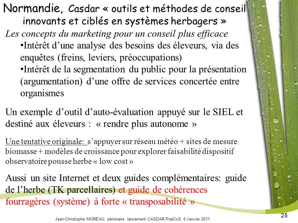 Normandie, Casdar « outils et méthodes de conseil innovants et ciblés en systèmes herbagers »