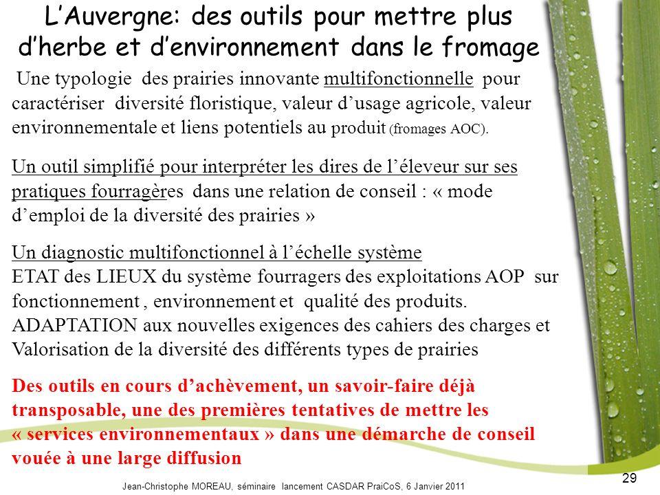 L'Auvergne: des outils pour mettre plus d'herbe et d'environnement dans le fromage
