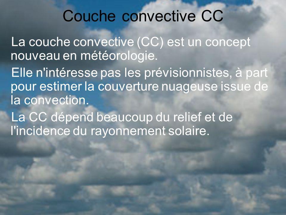 Couche convective CC La couche convective (CC) est un concept nouveau en météorologie.