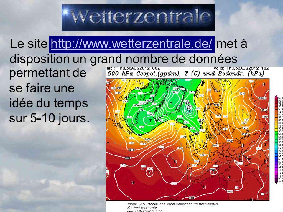 Le site http://www. wetterzentrale