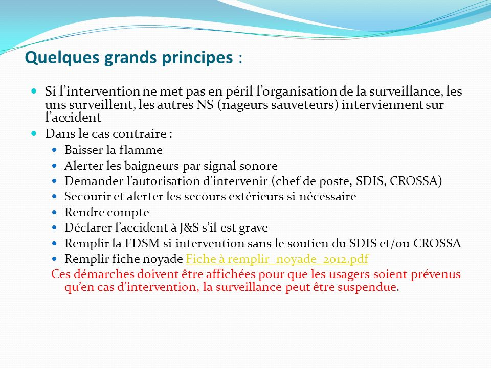 Quelques grands principes :