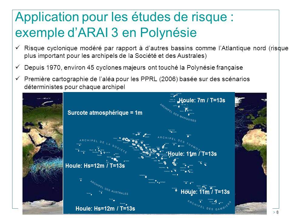 Application pour les études de risque : exemple d'ARAI 3 en Polynésie