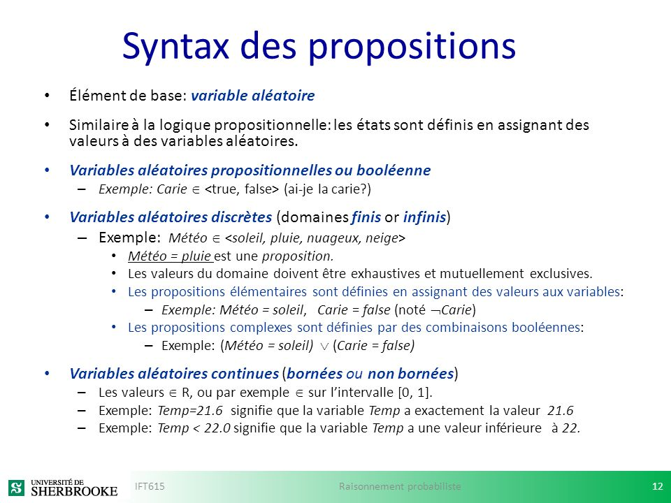 Syntax des propositions