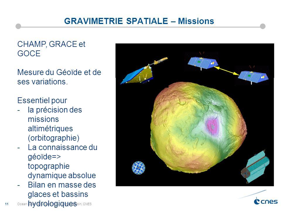 GRAVIMETRIE SPATIALE – Missions