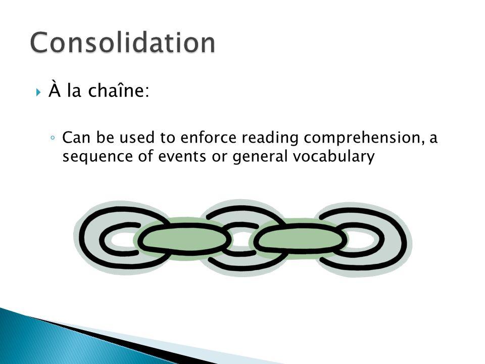 Consolidation À la chaîne:
