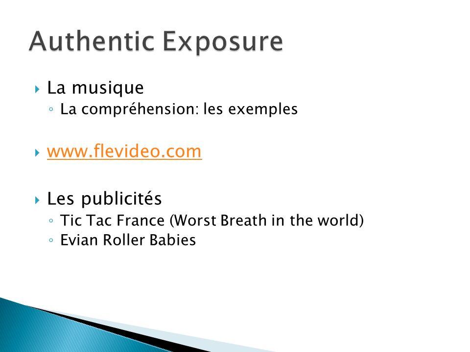 Authentic Exposure La musique www.flevideo.com Les publicités
