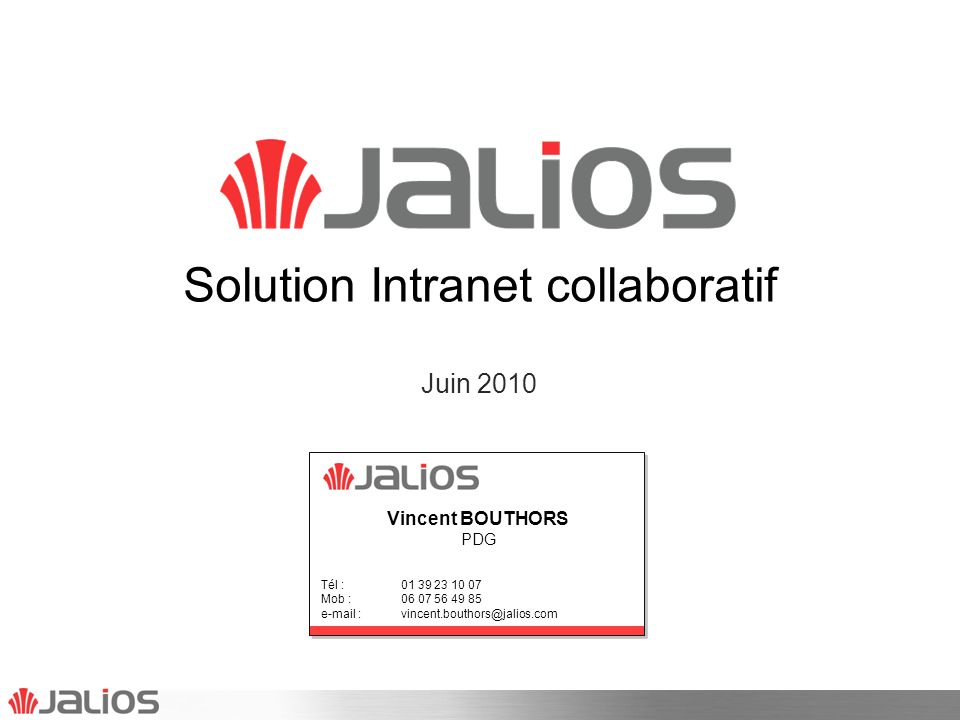 Solution Intranet collaboratif