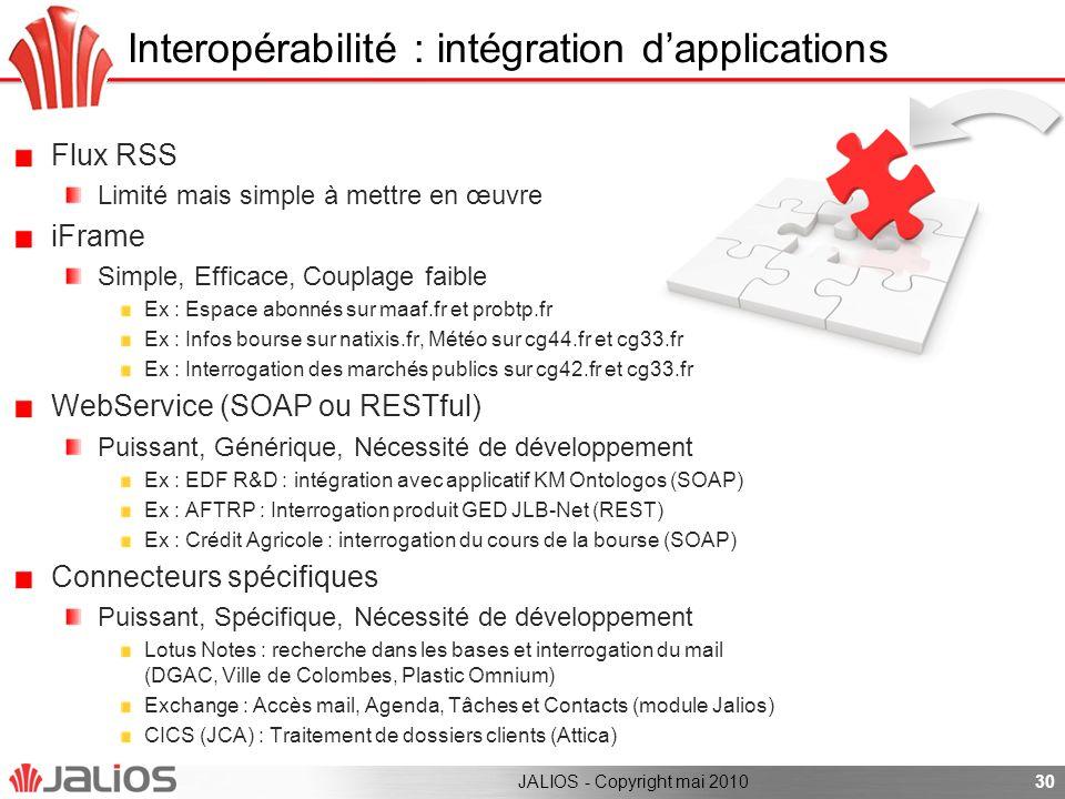 Interopérabilité : intégration d'applications