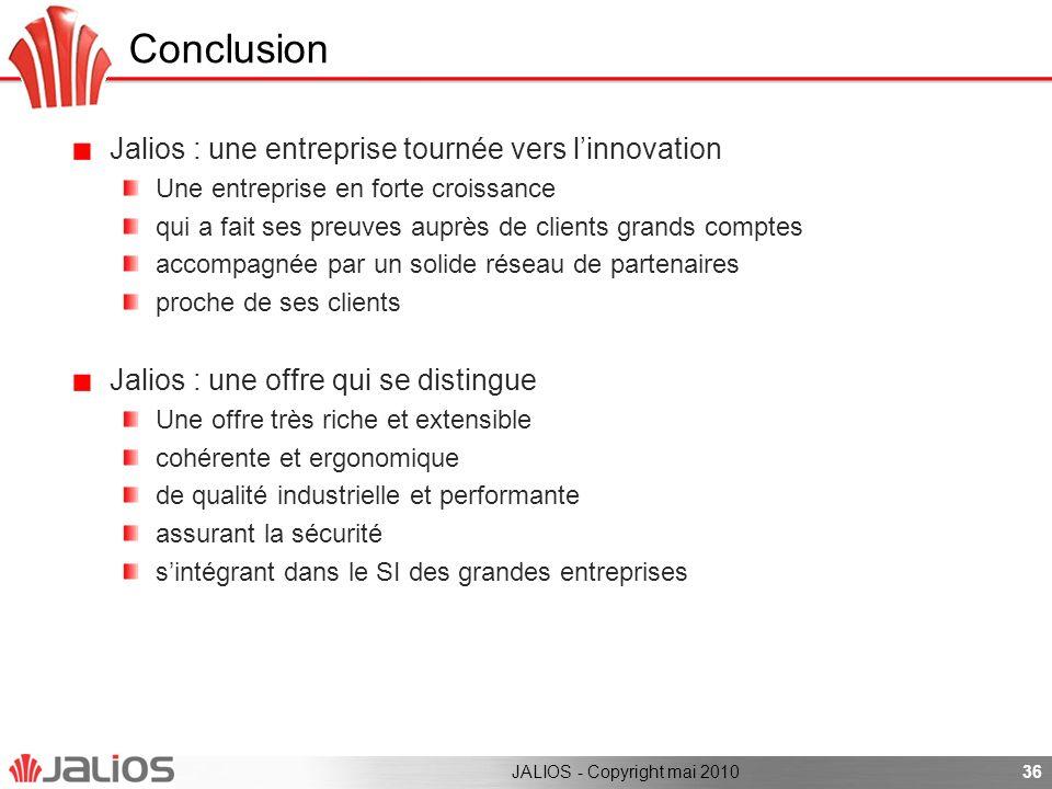 Conclusion Jalios : une entreprise tournée vers l'innovation