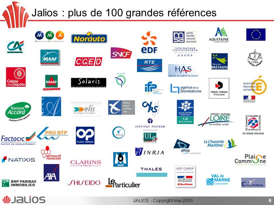 Jalios : plus de 100 grandes références