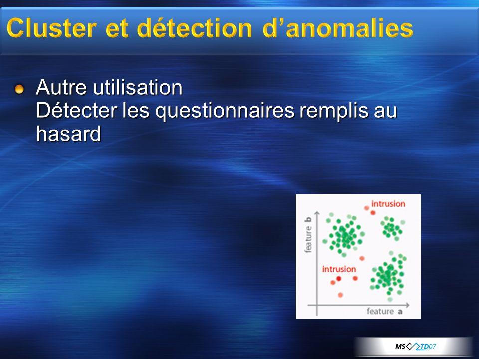 Cluster et détection d'anomalies