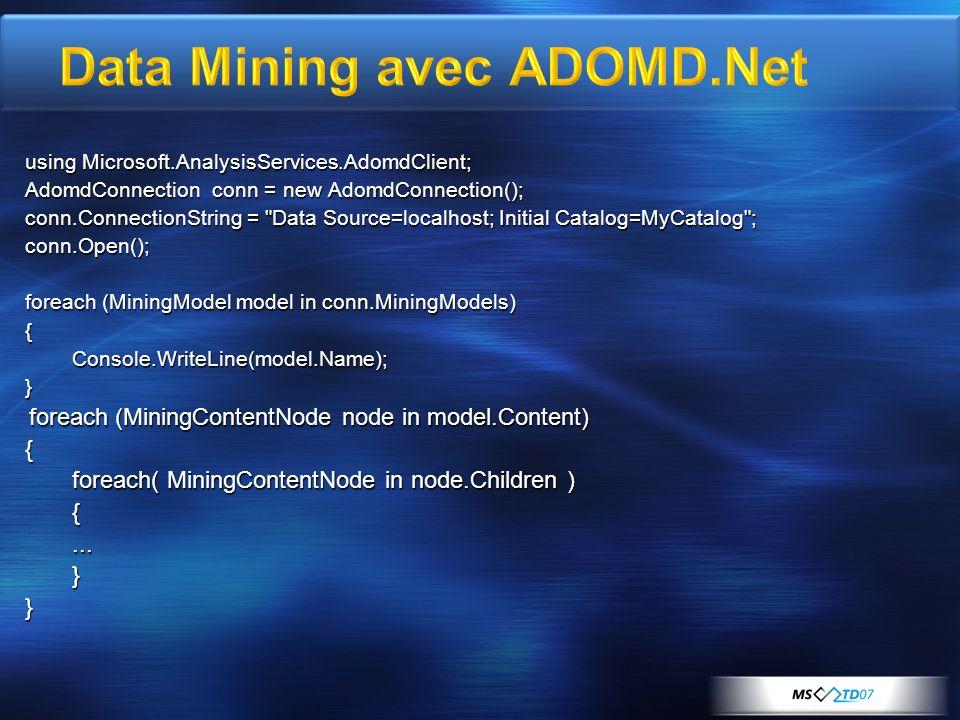 Data Mining avec ADOMD.Net