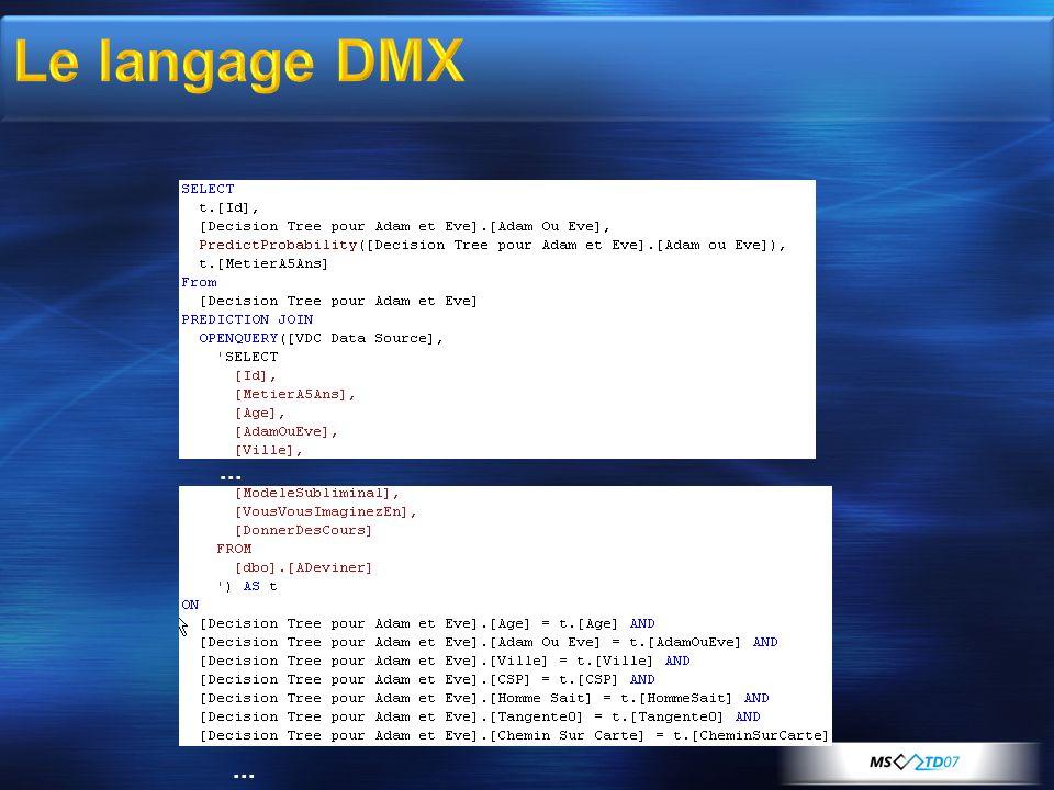 Le langage DMX ... ** ...