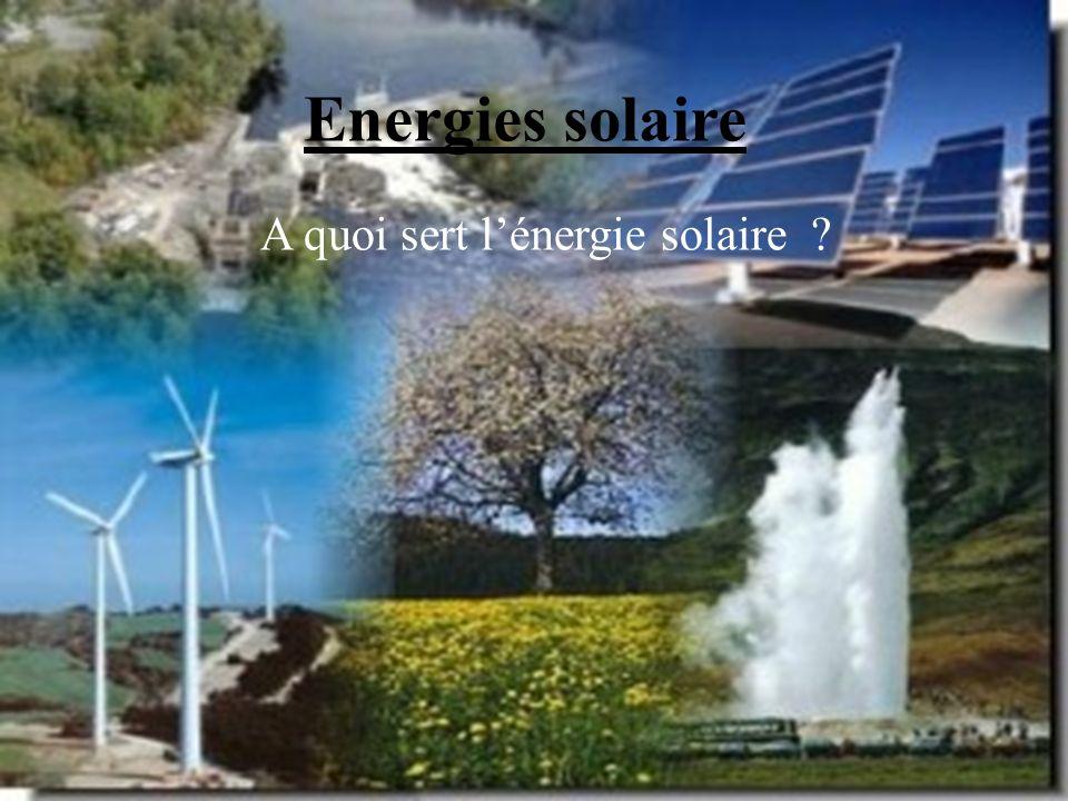 A quoi sert l'énergie solaire