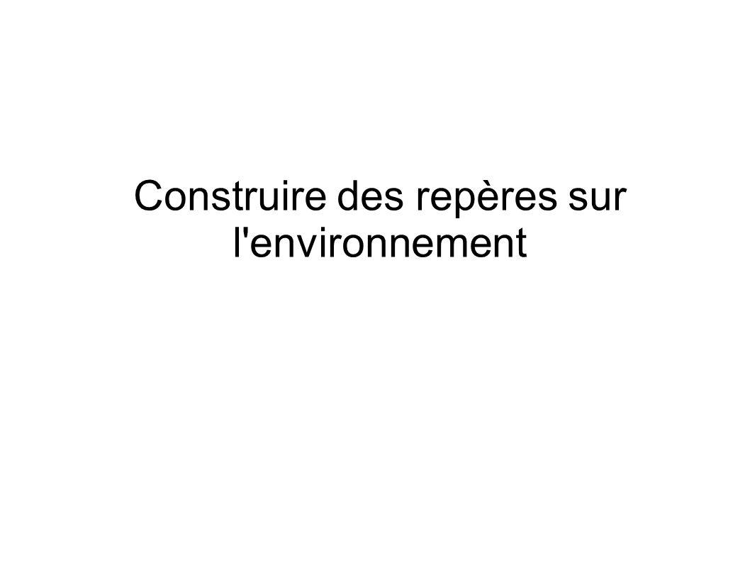 Construire des repères sur l environnement
