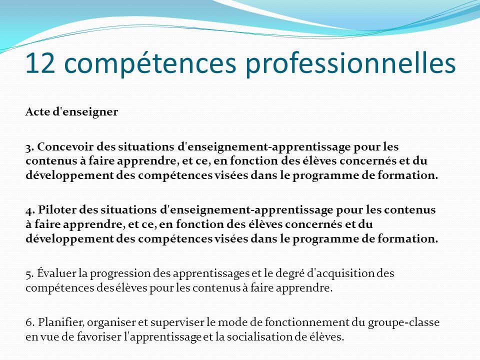 12 compétences professionnelles