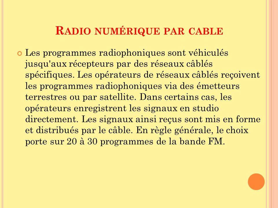Radio numérique par cable