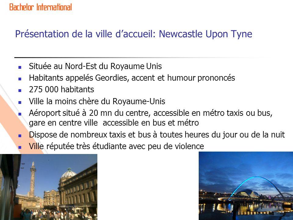 Présentation de la ville d'accueil: Newcastle Upon Tyne
