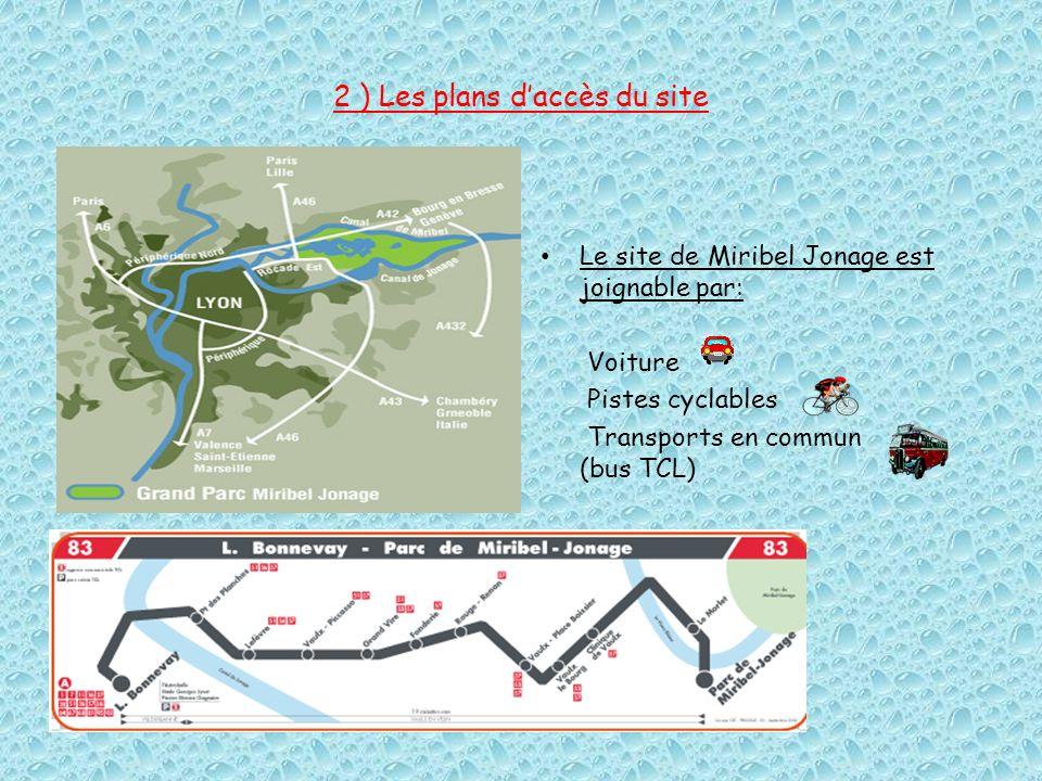 2 ) Les plans d'accès du site