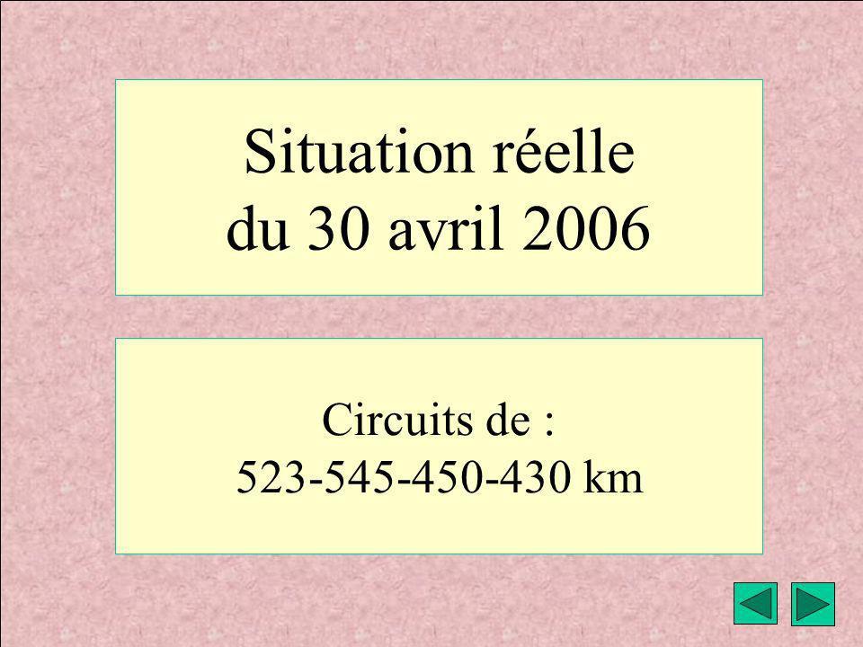 Situation réelle du 30 avril 2006