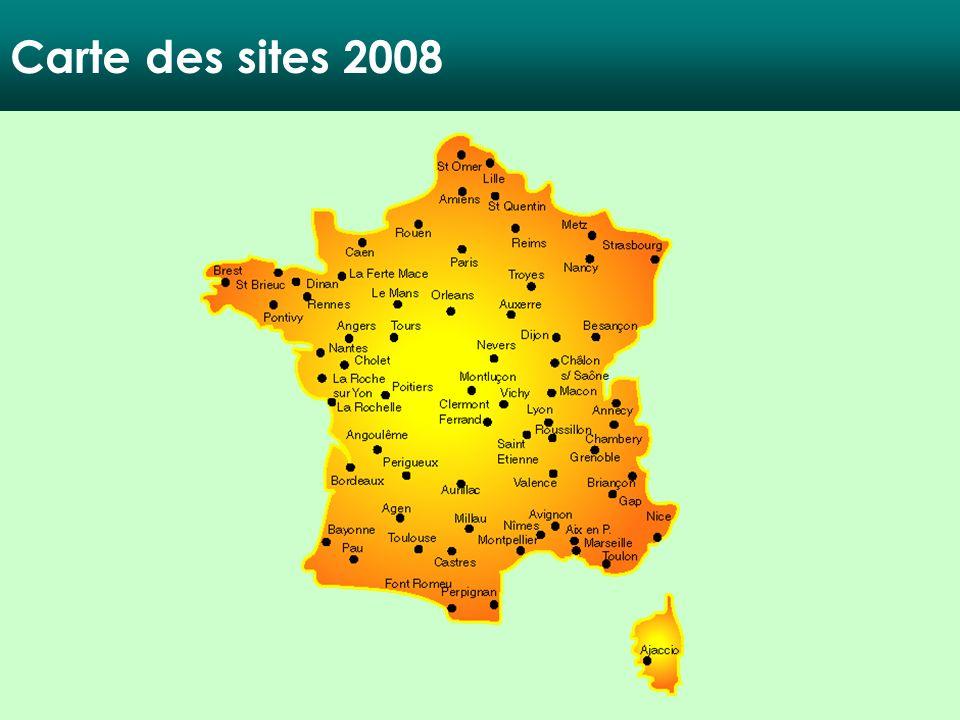 Carte des sites 2008