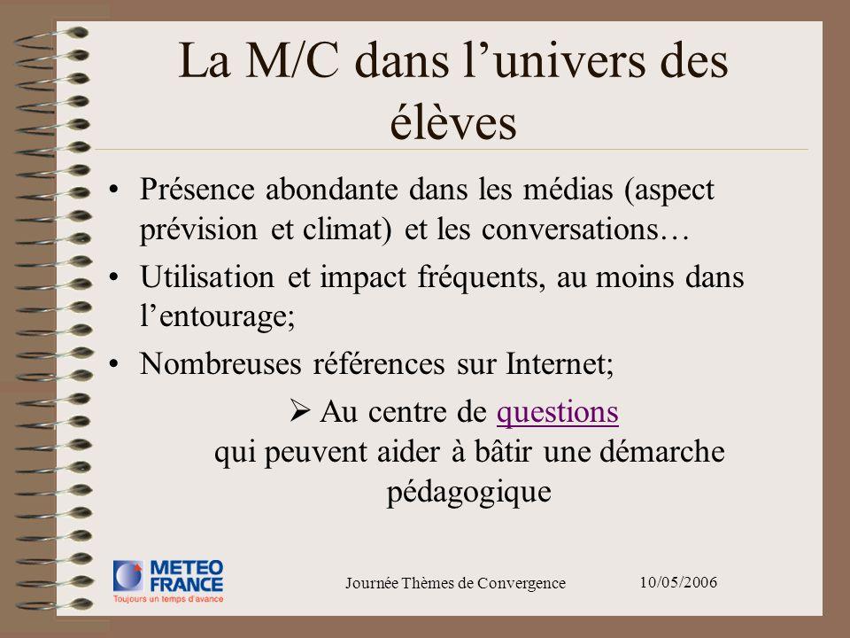 La M/C dans l'univers des élèves