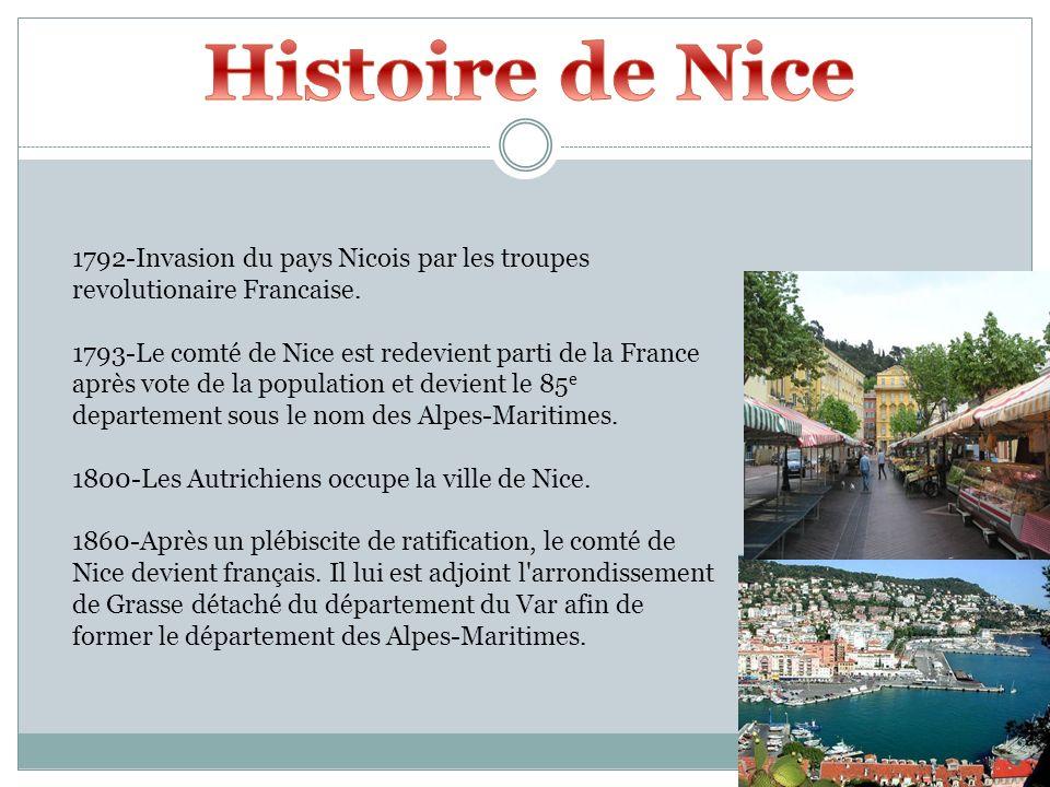 Histoire de Nice 1792-Invasion du pays Nicois par les troupes revolutionaire Francaise.