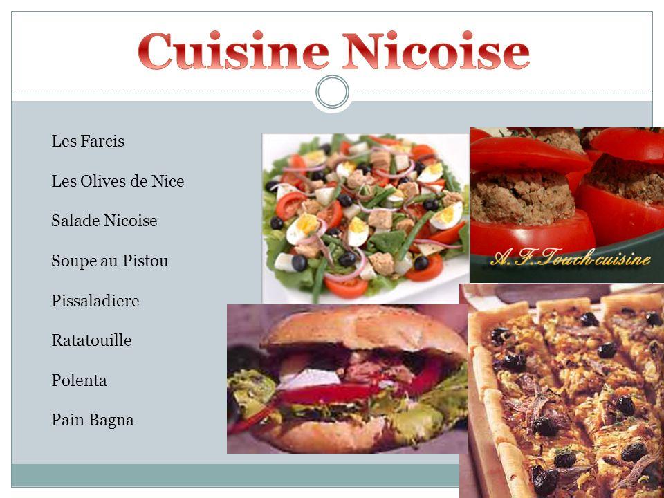 Cuisine Nicoise Les Farcis Les Olives de Nice Salade Nicoise
