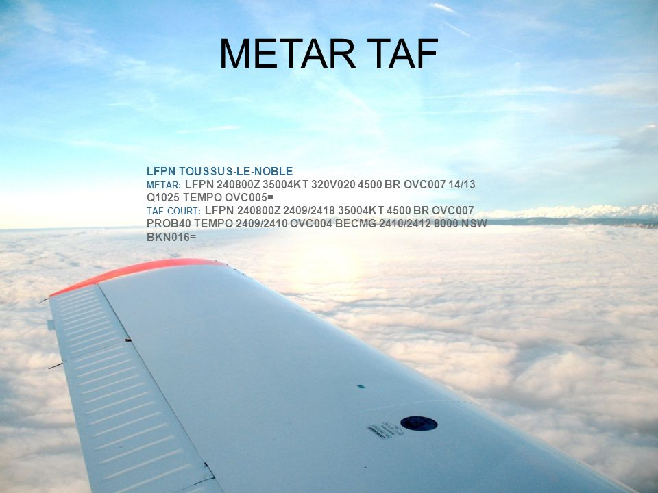 METAR TAF