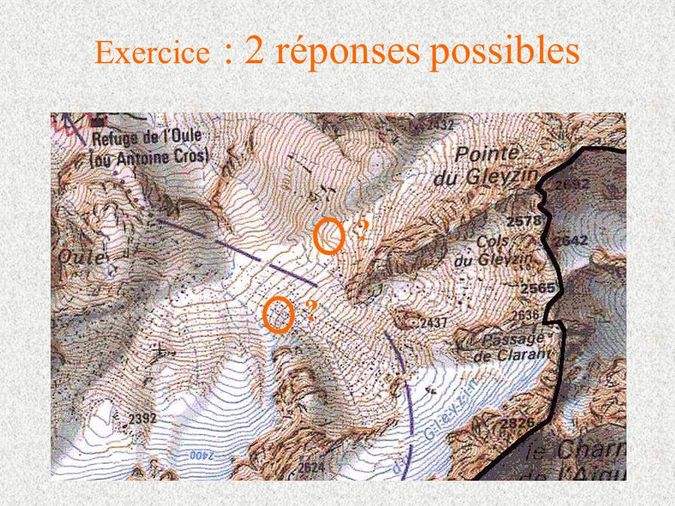 Exercice : 2 réponses possibles