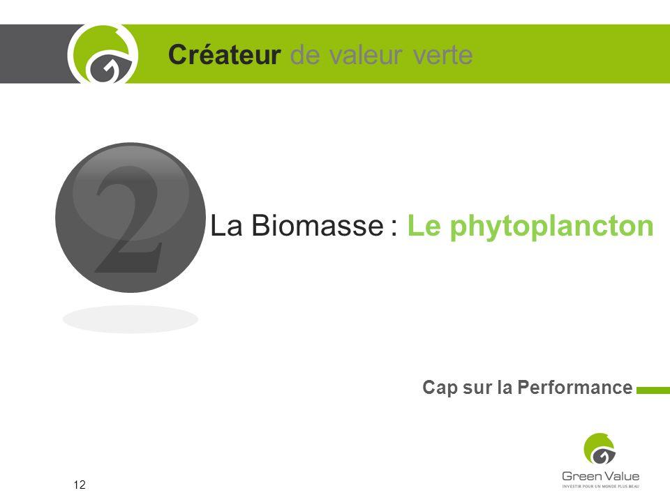 2 Créateur de valeur verte La Biomasse : Le phytoplancton